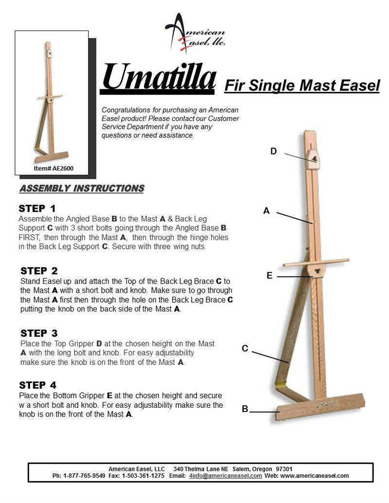 how to build a cardboard easel