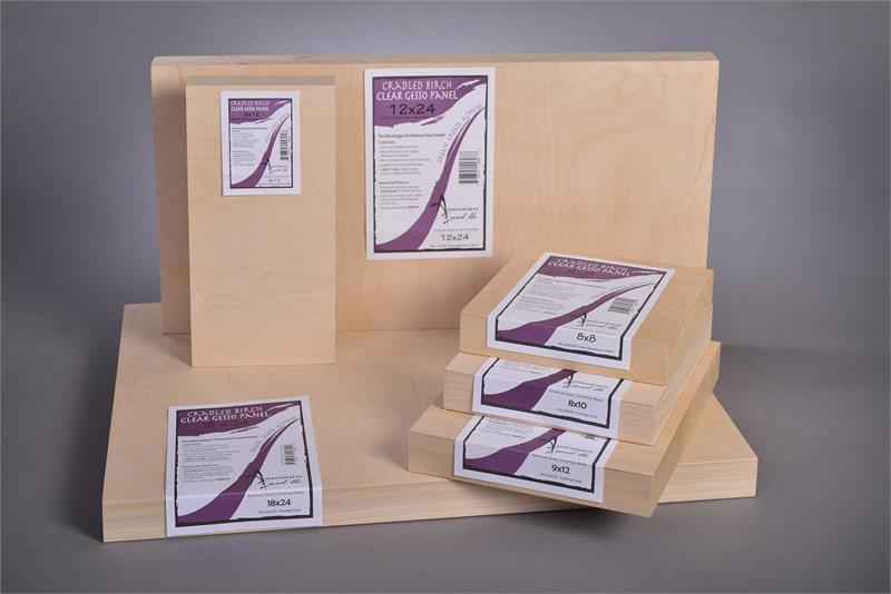 American Easel 12 Inch by 24 Inch by 7//8 Inch Deep Cradled Painting Panel